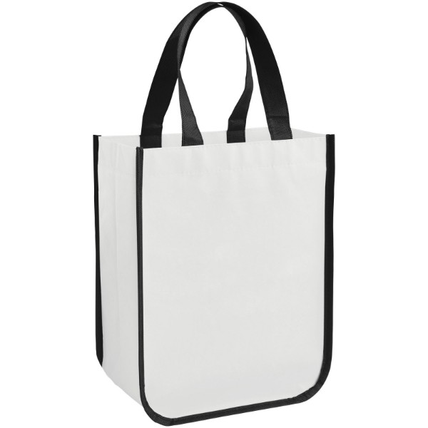 Acolla small laminated shopping tote bag - White