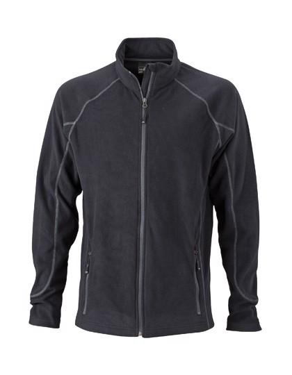 Men`S Structure Fleece Jacket - Black / Carbon / L