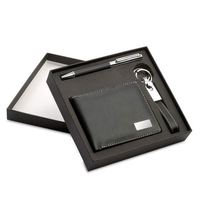 Kemični svinčnik, obesek za ključe in denarnica Eleganci