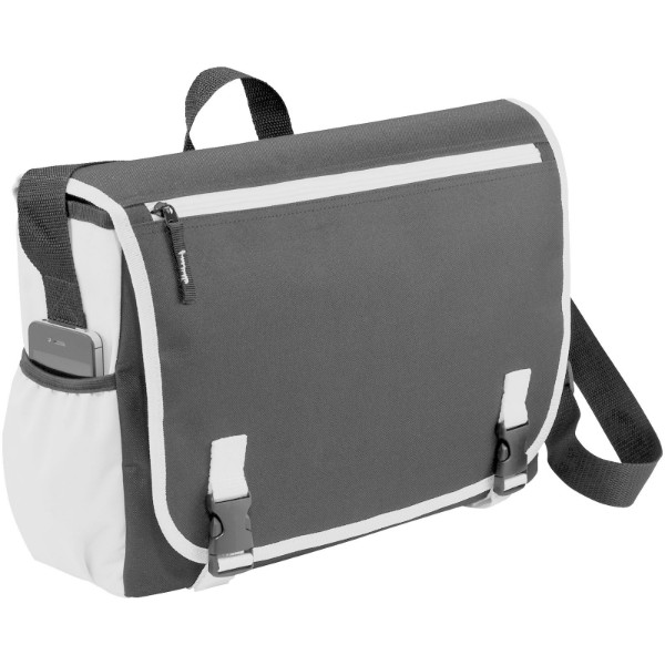 "Punch 15.6"" laptop messenger bag - Grey / White"