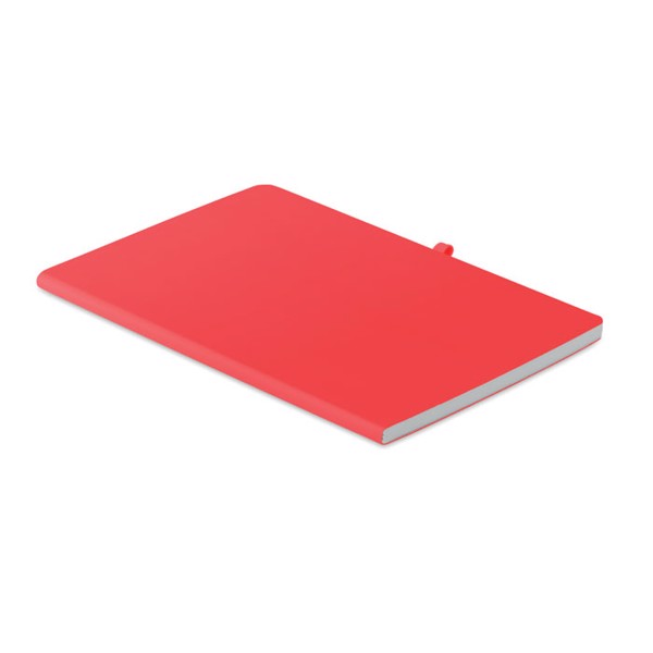 A5 soft PU cover notebook Rainbow - Red
