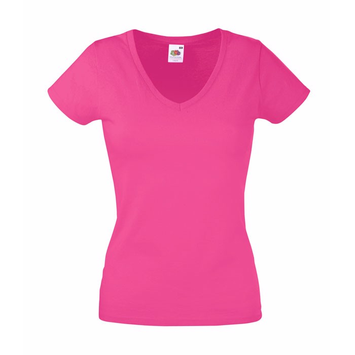 Ladies t-shirt 165 g/m² Lady-Fit Valueweight 61-398-0 - Fuchsia / XS