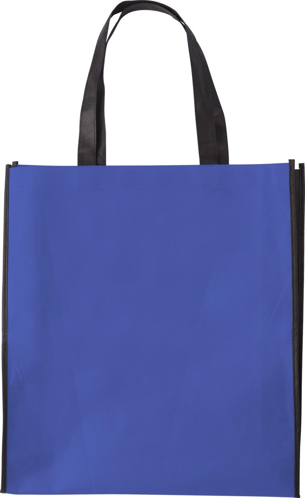 Nonwoven (80 gr/m²) shopping bag - Cobalt Blue
