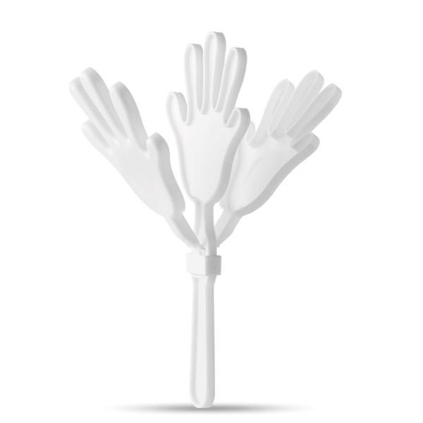 Kéz alakú kereplő Clap - fehér-TESZT
