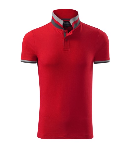 Polokošile pánská Malfinipremium Collar Up - Formula Red / 3XL