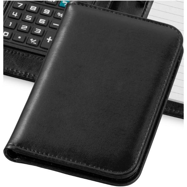 Smarti Taschenrechner mit A6 Notizbuch - Schwarz