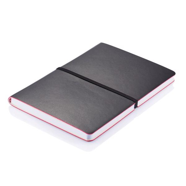 Deluxe puhafedelű A5-ös jegyzetfüzet - Fekete