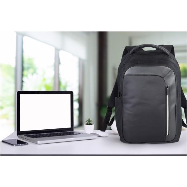 """Vault RFID 15"""" laptop backpack - Solid Black"""