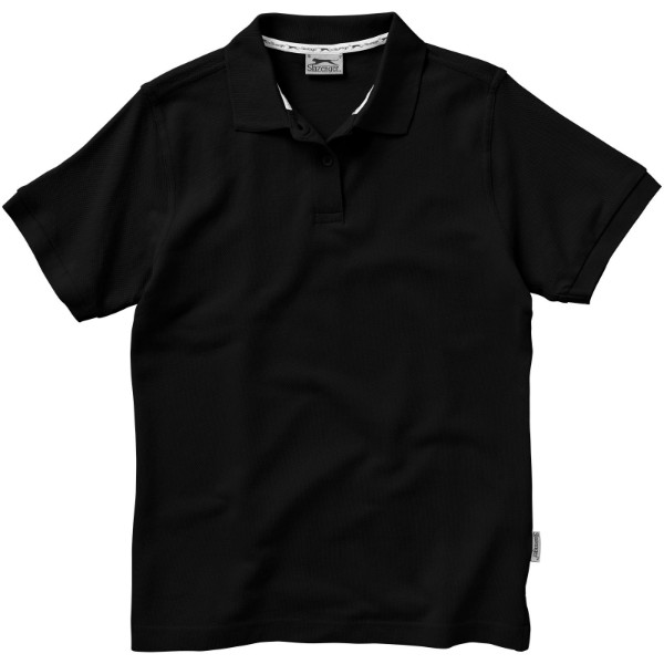 Forehand short sleeve ladies polo - Solid black / XL