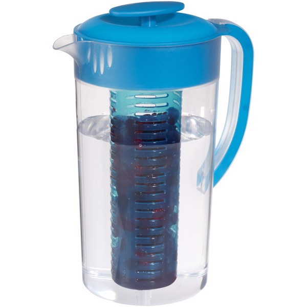 Pebble beverage pitcher with fruit infuser