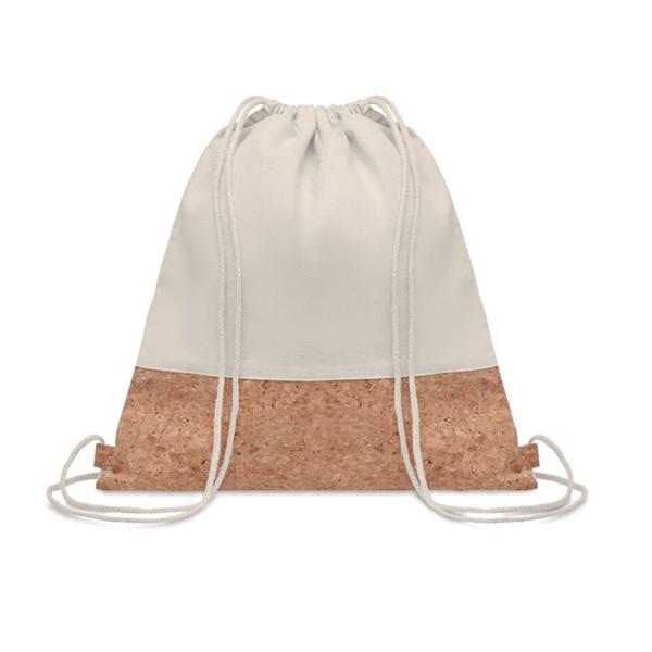 140gr/m² cotton drawstring bag Illa - Beige