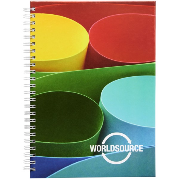 Wiro A5 Notizblock mit Hardcover und Spiralbindung - Weiss