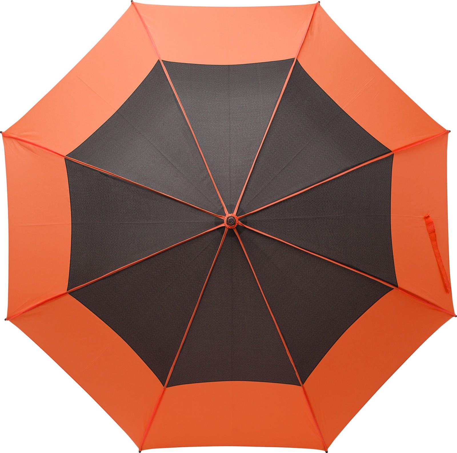 Pongee (190T) storm umbrella - Orange