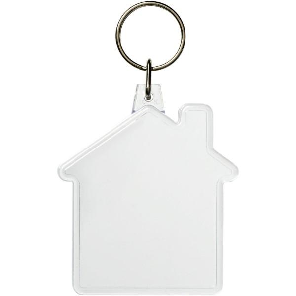 Combo house-shaped keychain