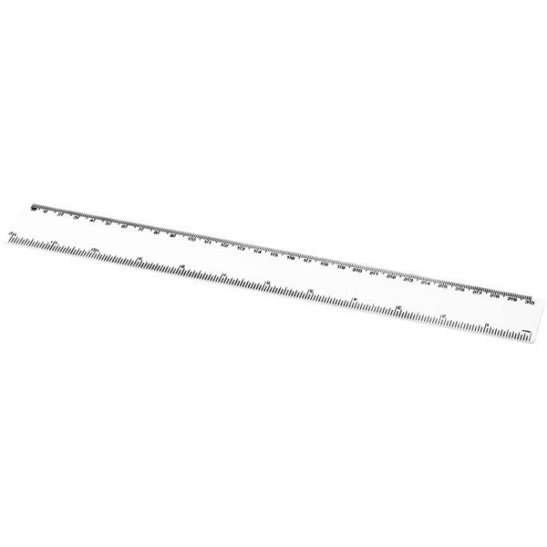Renzo 30 cm plastic ruler - White