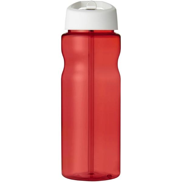 Sportovní láhev s víčkem s hubičkou H2O Base® 650 ml - Červená s efektem námrazy / Bílá