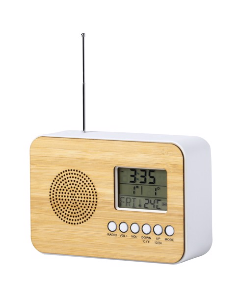 Radio Desk Clock Tulax - Natural