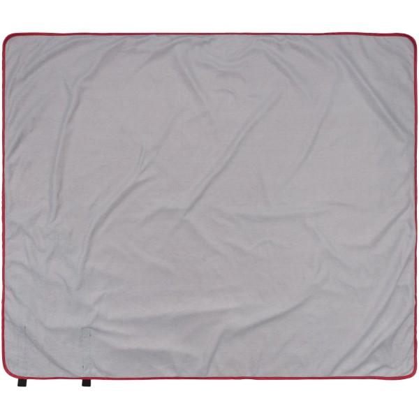 Pikniková deka Roler s popruhy pro přenášení - Červená s efektem námrazy