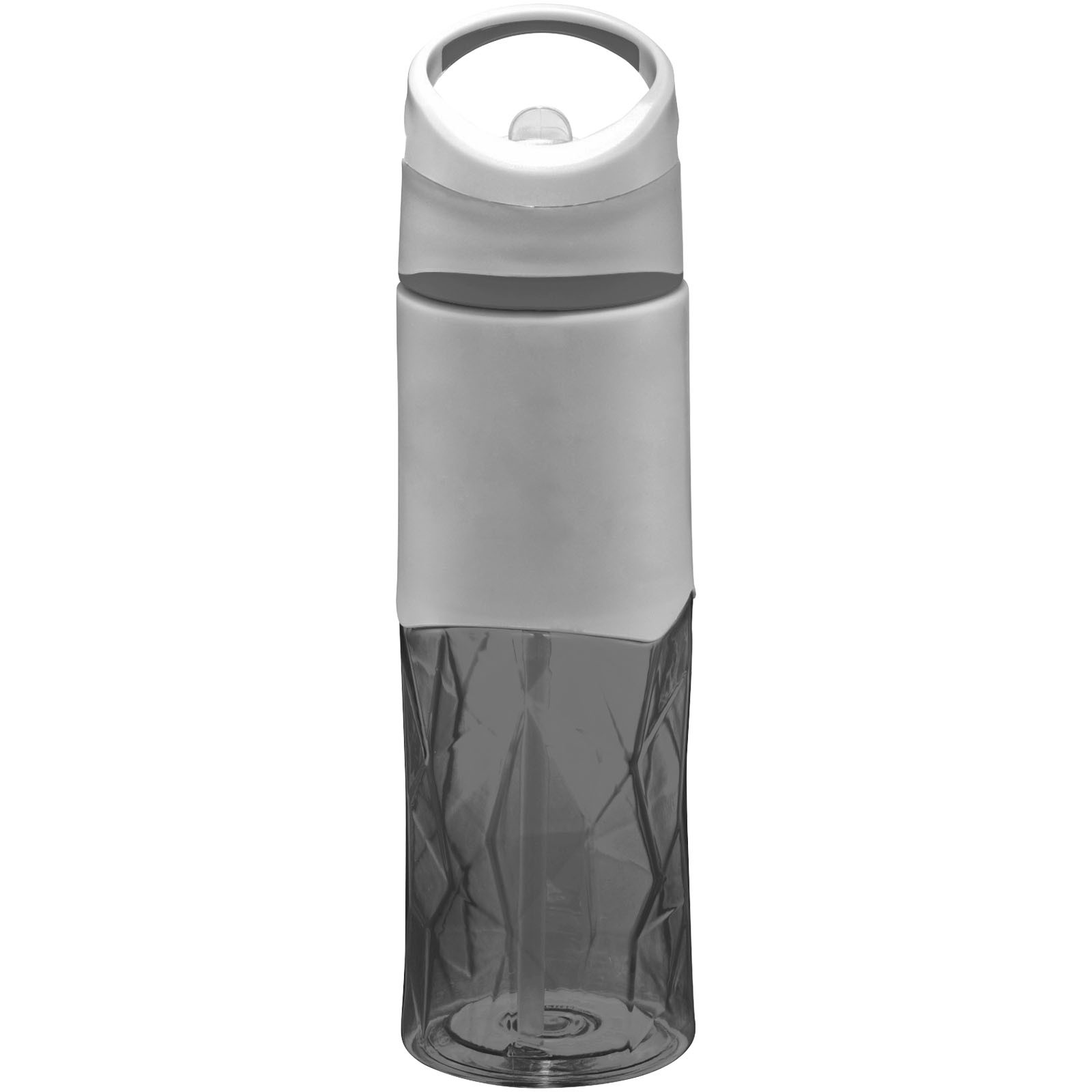 Radius 830 ml Tritan™ geometric sport bottle - Solid black / Grey