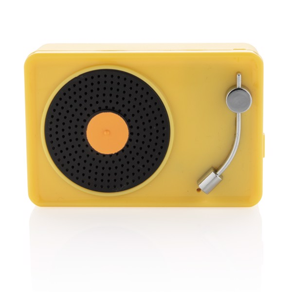 Mini Vintage 3W wireless speaker - Yellow / Black