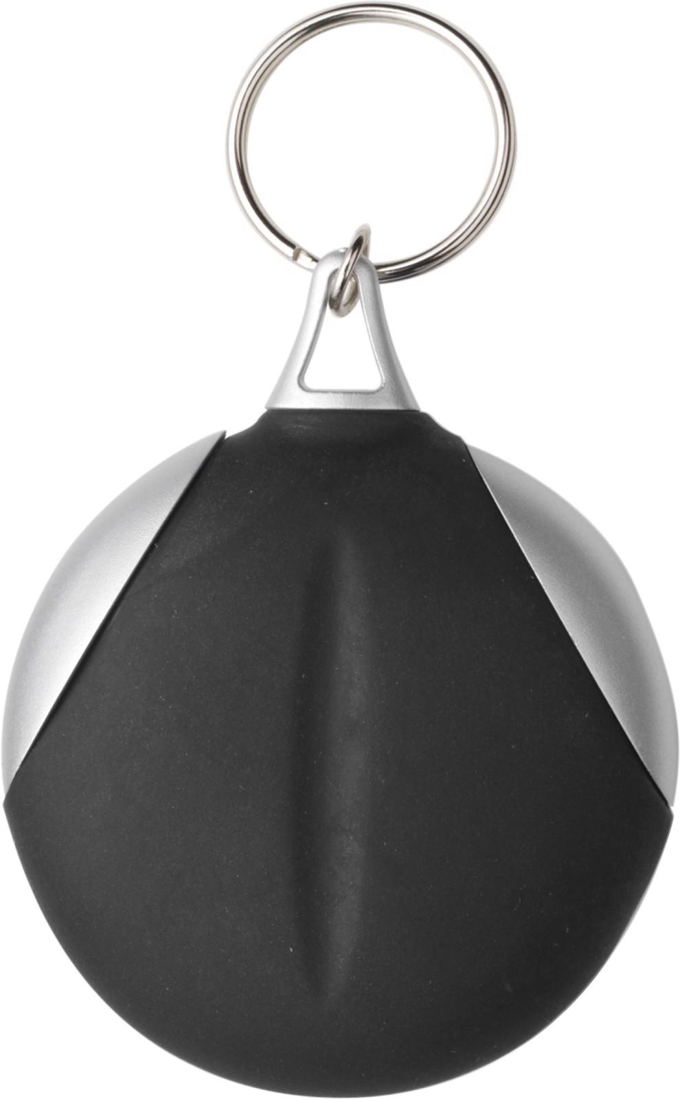 Vinyl key holder with fibre cloth - Black