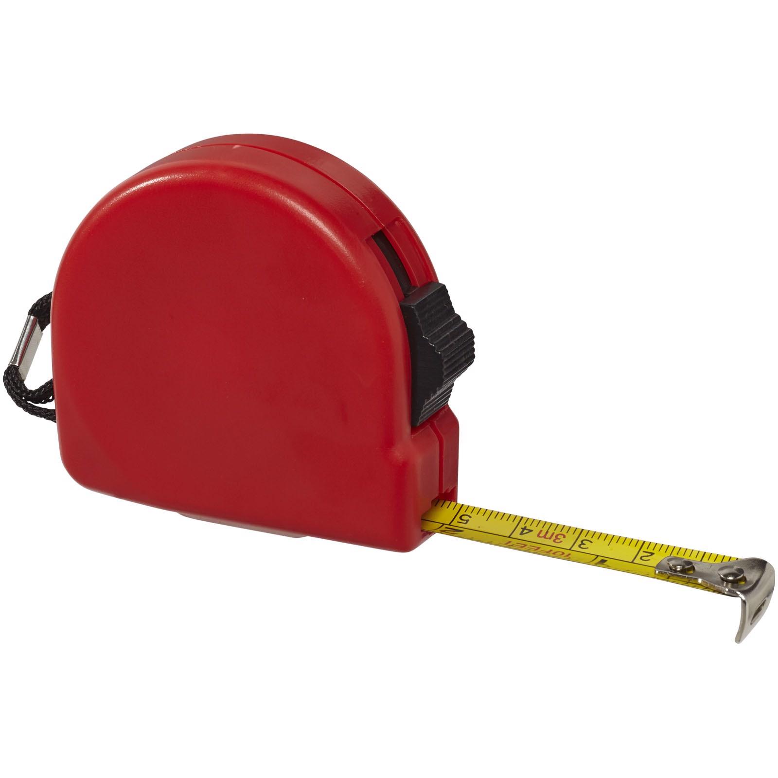 Měřicí pásmo Clark, 3 m - Červená s efektem námrazy
