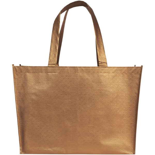 Alloy laminated non-woven shopping tote bag - Copper