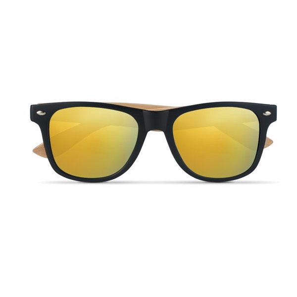 Sunglasses with bamboo arms California Touch - Yellow
