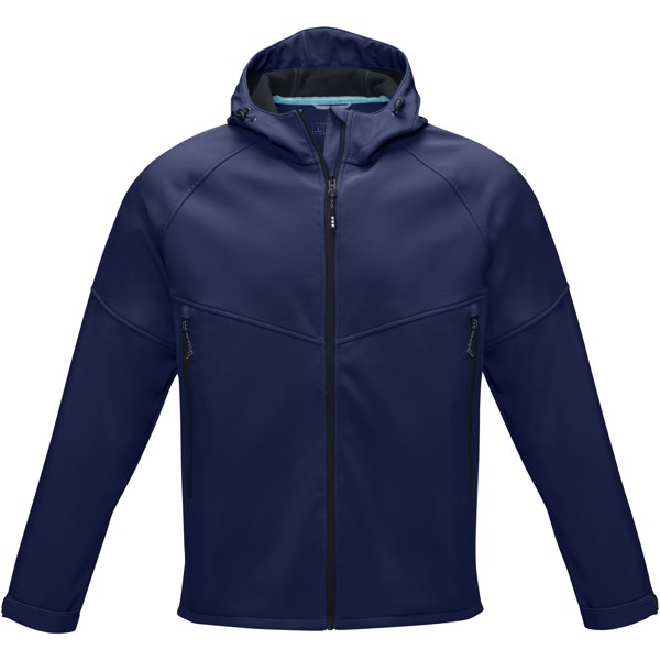 Coltan men's GRS recycled softshell jacket - Navy / M