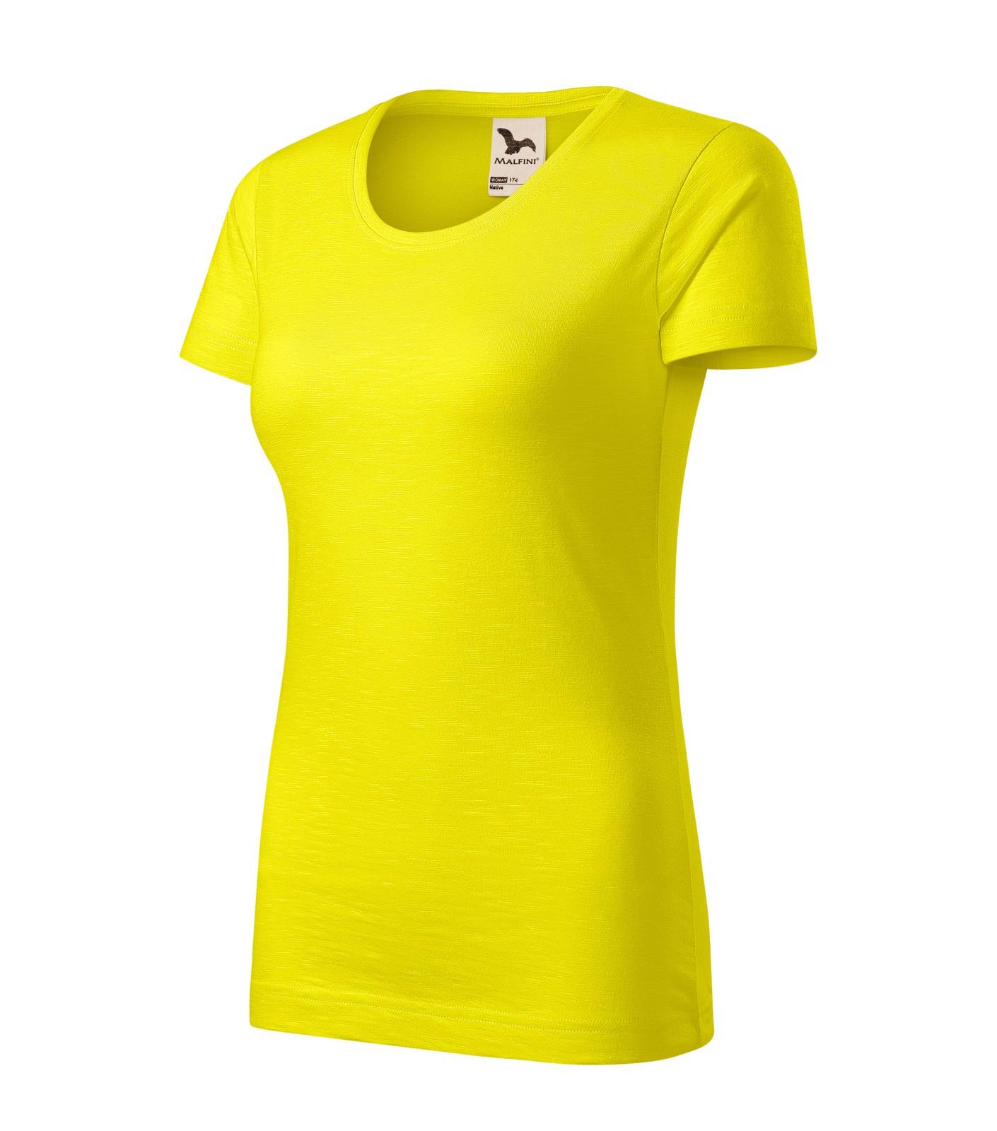 Tričko dámské Malfini Native - Citronová / XS