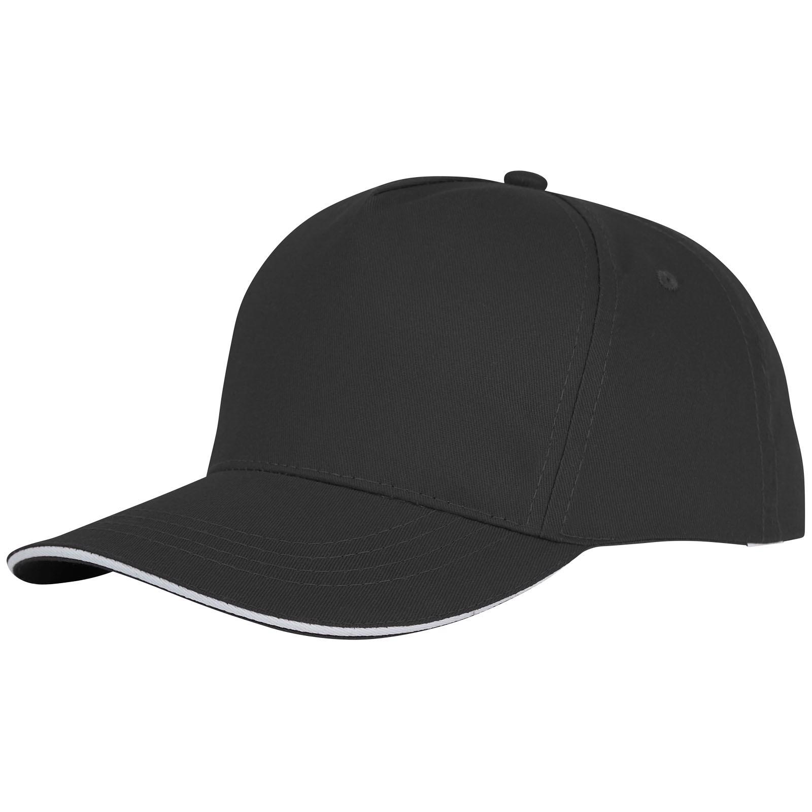 Ceto 5 panel sandwich cap - Solid black