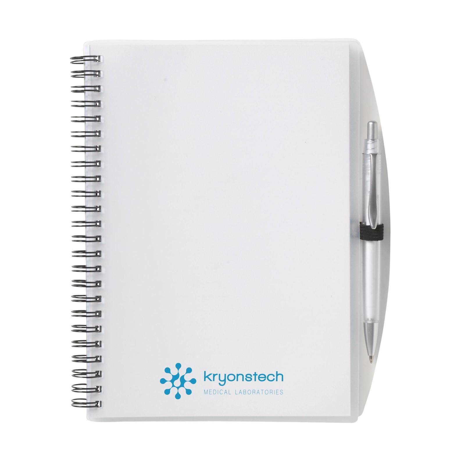 NoteBook A5 notebook - Transparent White