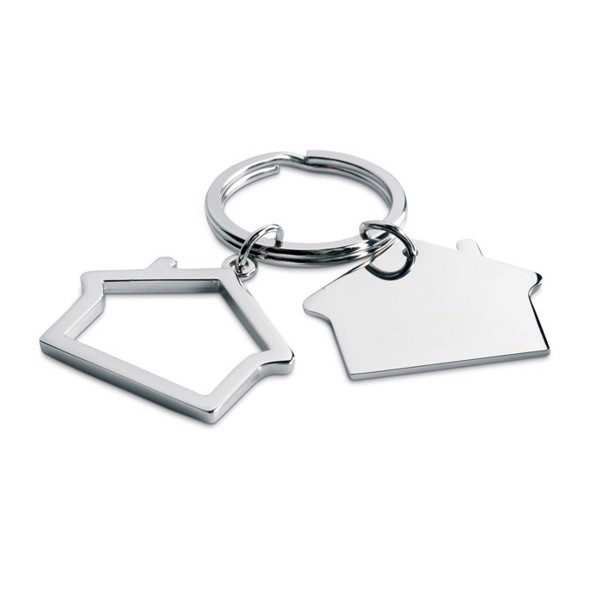Metal key ring house shape Sniper