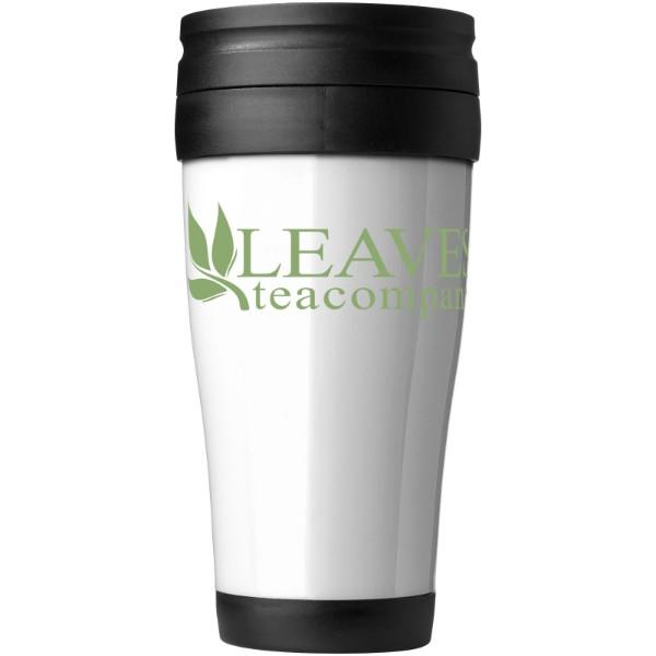 Daytona 400 ml insulated mug - White / Solid Black