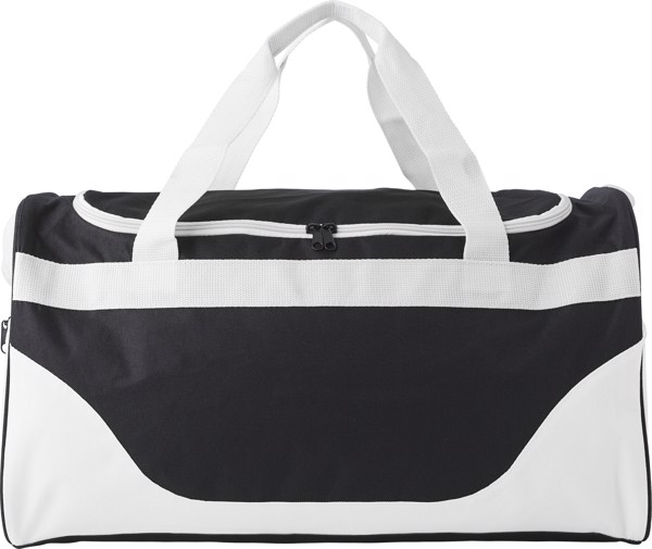 Polyester (600D) sports bag - White