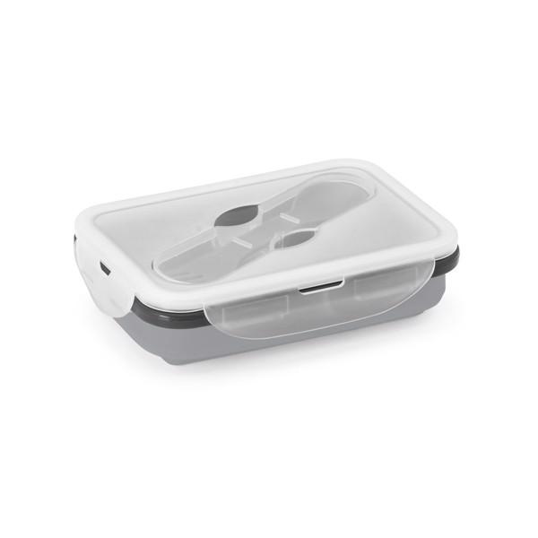 SAFFRON. Retractable airtight container 640 ml - Light Grey