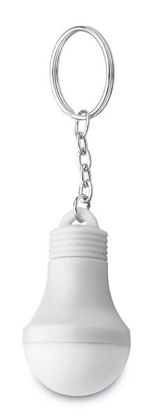 GLOAMIN. Klíčenka s LED - Bílá