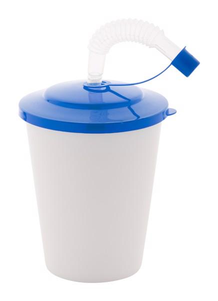 Uzavíratelný Plastový Pohárek Chico - Modrá / Bílá