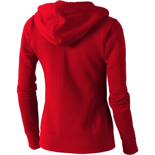 Arora hooded full zip ladies sweater - Red / XS