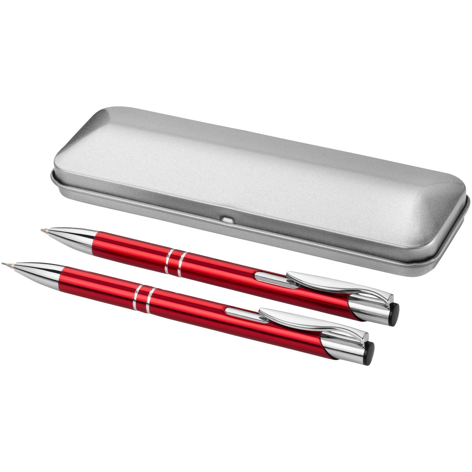 Dublin writing set - Red / Silver