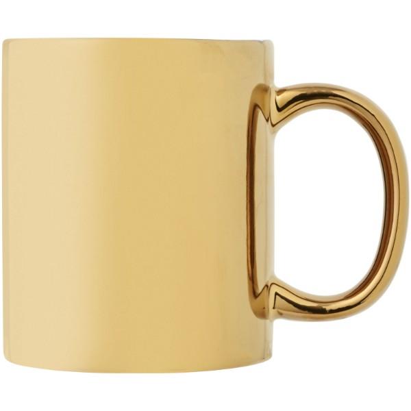 Gleam 350 ml ceramic mug - Gold