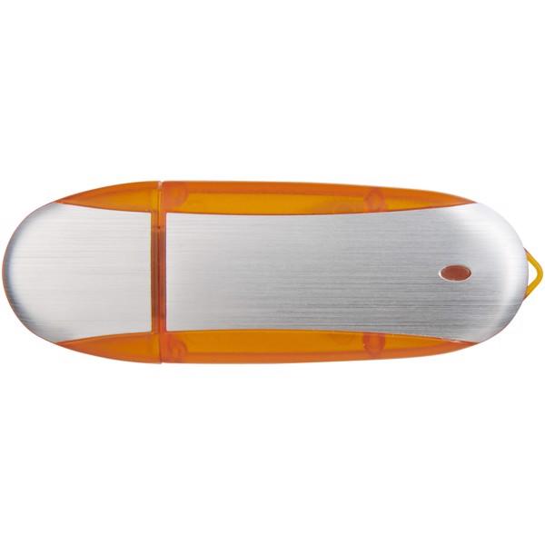 USB stick Oval - Orange / Silver / 4GB