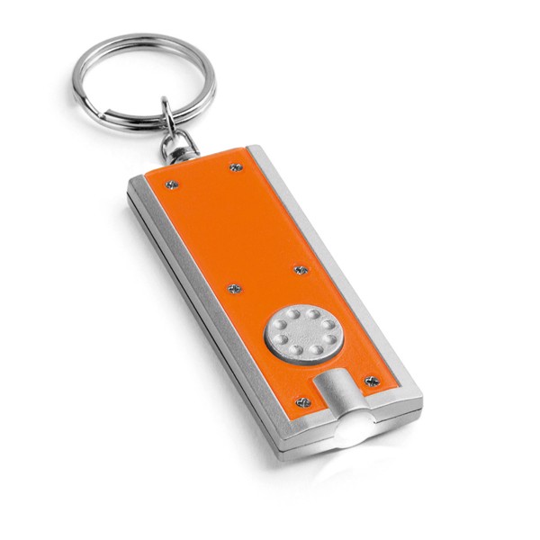 NOHO. Keyring with LED - Orange