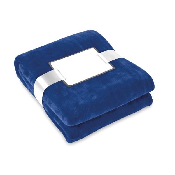 Blanket flannel Davos - Blue