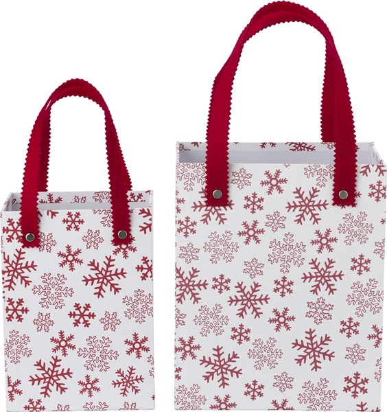 Set of Christmas decoration boxes - Red / White