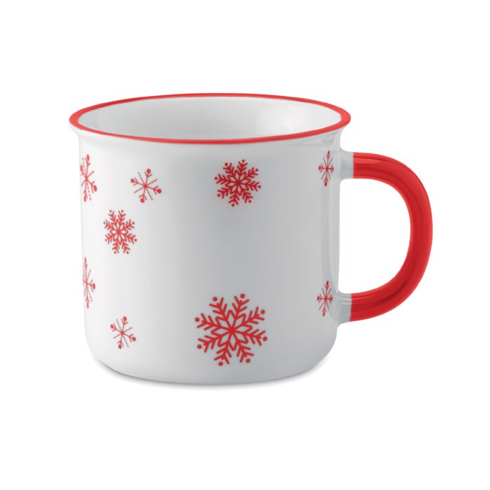 Christmas vintage mug Sondrio Mug - Red