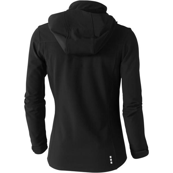 Langley women's softshell jacket - Solid black / L