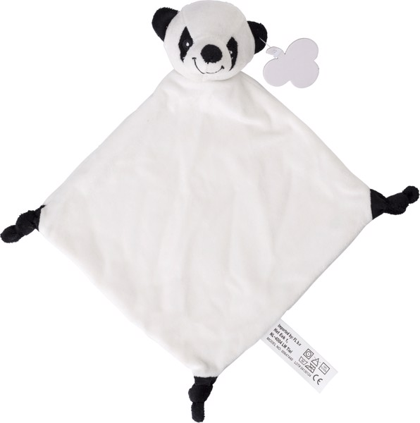 Plush cloth - Black / White