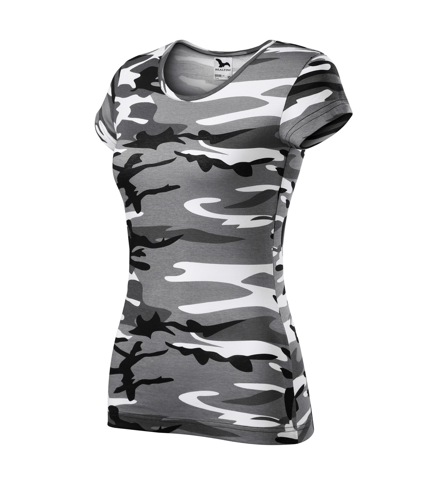 T-shirt Ladies Malfini Pure - Camouflage Gray / XS