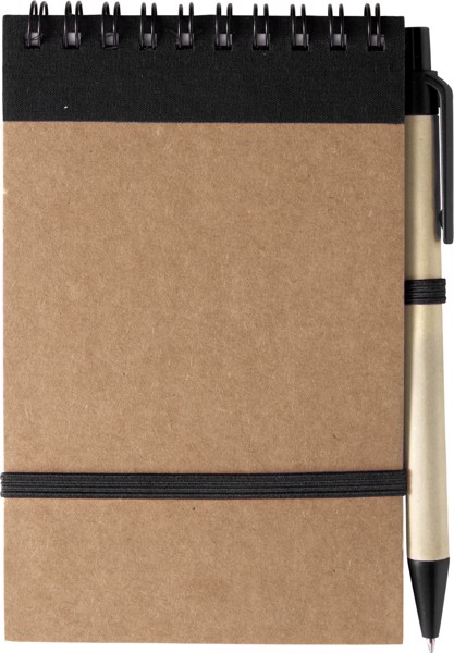 Cardboard notebook - Black